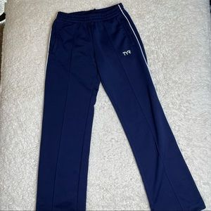 TYR navy track pants size small
